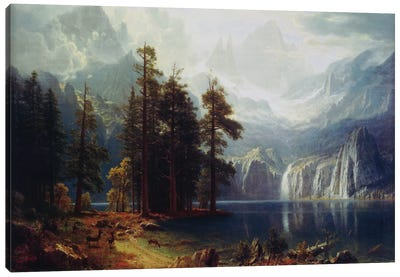 Sierra Nevada In California by Albert Bierstadt Canvas Art Print