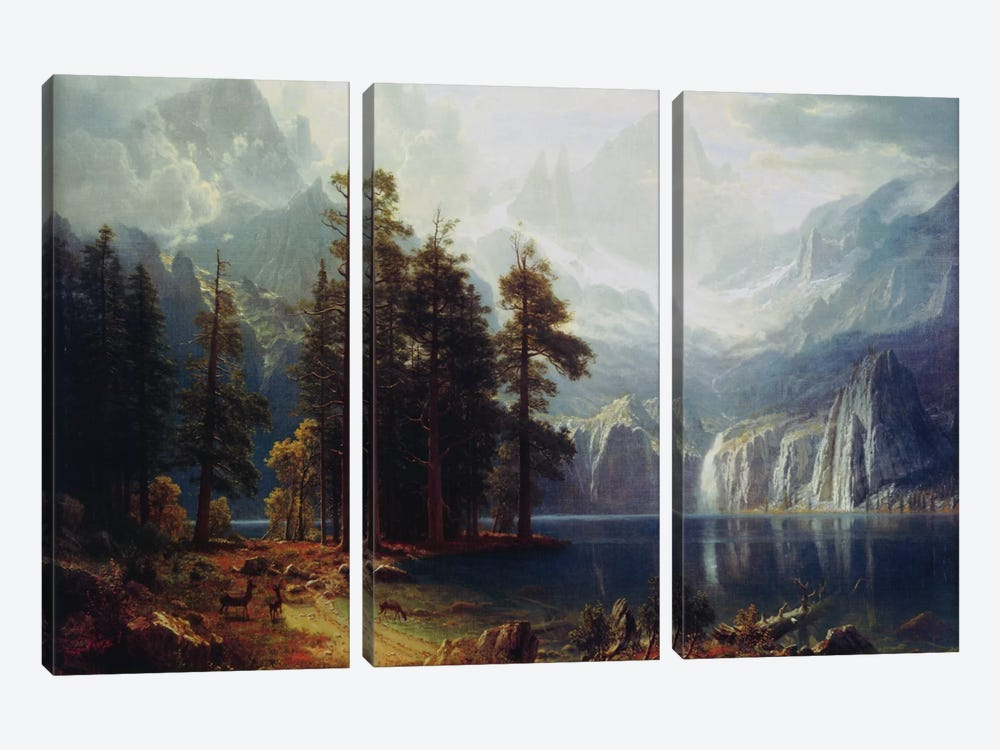 Sierra Nevada In California by Albert Bierstadt 3-piece Canvas Wall Art