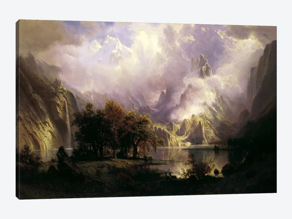 View of Rocky Mountains by Albert Bierstadt 1-piece Art Print