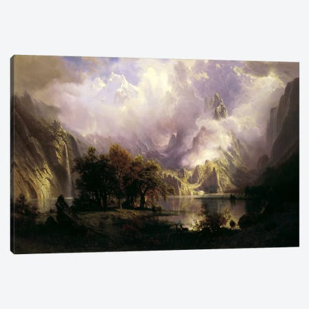 View of Rocky Mountains Canvas Print #1493} by Albert Bierstadt Canvas Art Print