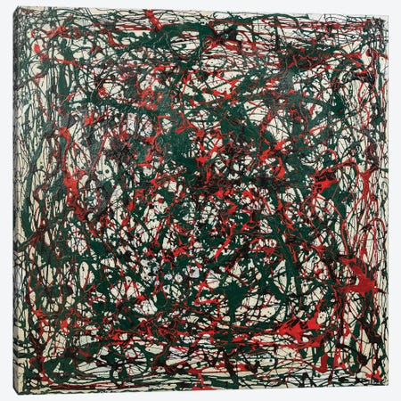 Untitled Green and Red Canvas Print #14954} by Shawn Jacobs Canvas Artwork
