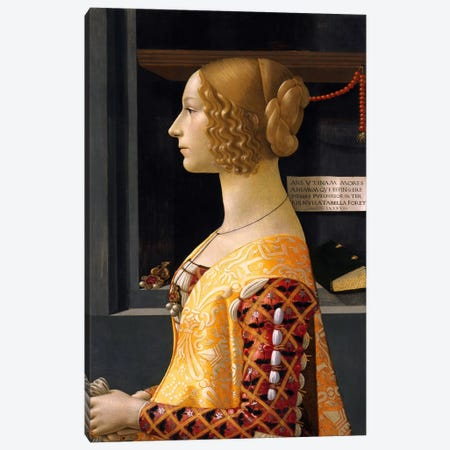 Portrait of Giovanna Tornabuoni Canvas Print #1495} by Domenico Ghirlandaio Canvas Art