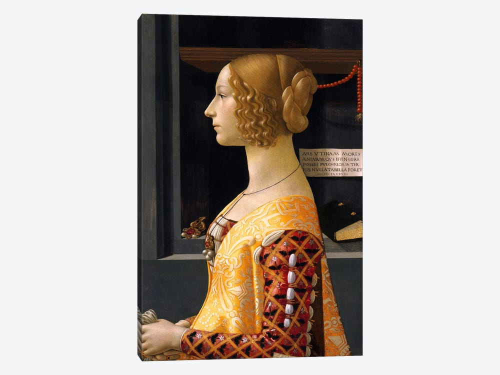 Portrait of Giovanna Tornabuoni by Domenico Ghirlandaio 1-piece Canvas Art Print