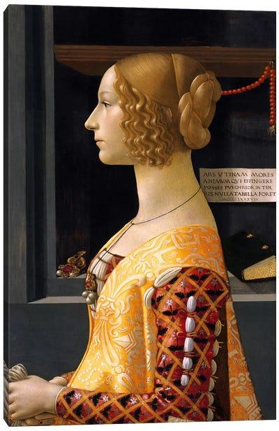 Portrait of Giovanna Tornabuoni Canvas Art Print