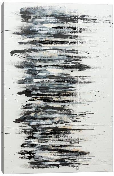 Shading in Black Canvas Art Print