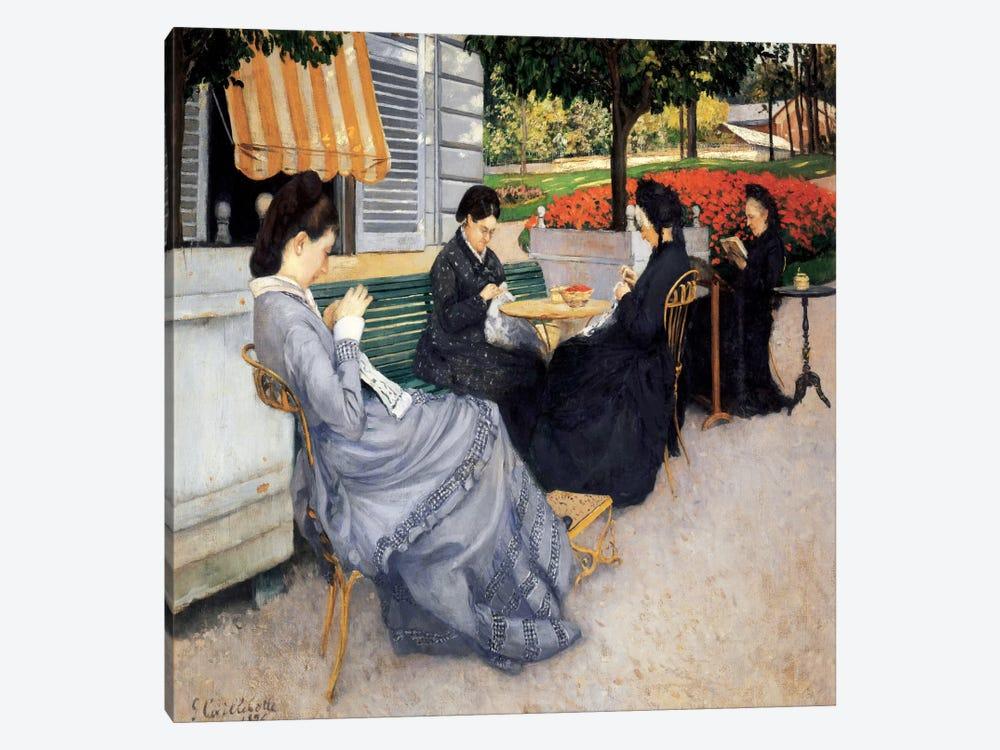 Portrait a la Campagne by Gustave Caillebotte 1-piece Canvas Artwork
