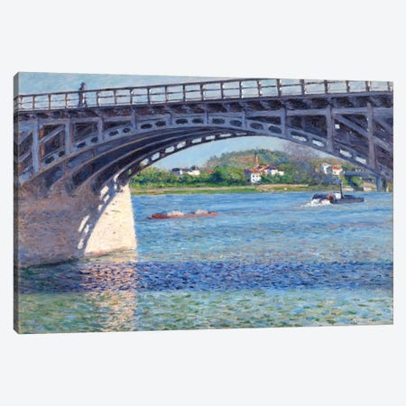 The Argenteuil Bridge and The Seine Canvas Print #15013} by Gustave Caillebotte Canvas Print