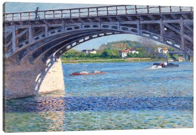 The Argenteuil Bridge and The Seine Canvas Art Print