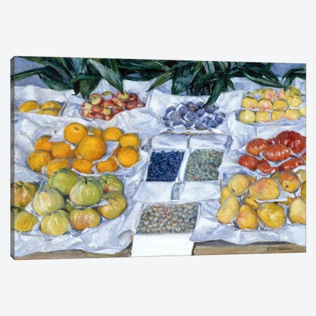 Fruit Displayed on a Stand Canvas Print #15014} by Gustave Caillebotte Canvas Art