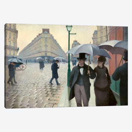 Paris Street: A Rainy Day Canvas Print #15016} by Gustave Caillebotte Canvas Art