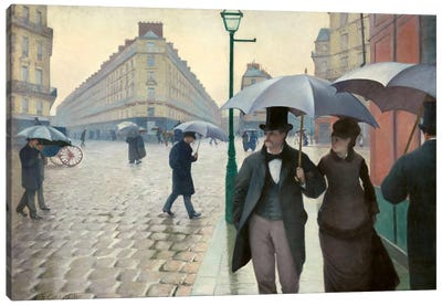 Paris Street: A Rainy Day Canvas Art Print