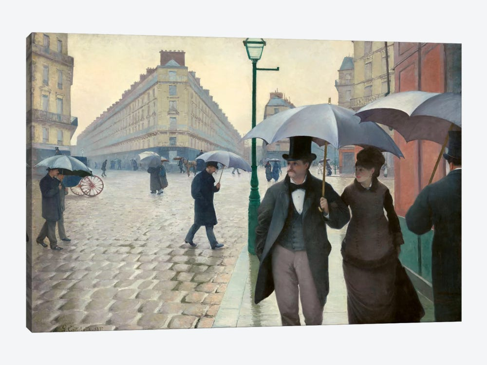 Paris Street: A Rainy Day by Gustave Caillebotte 1-piece Canvas Art Print
