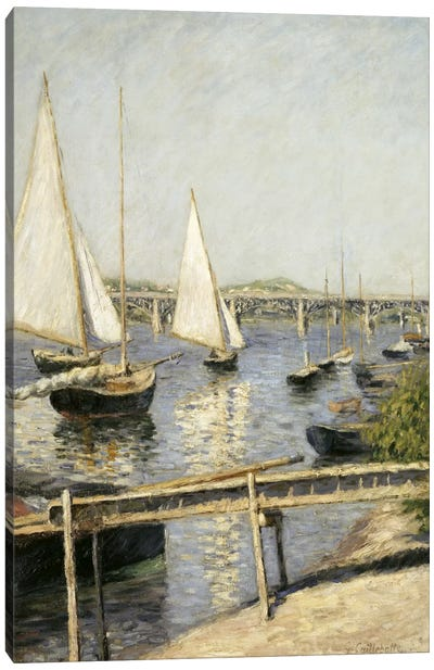Sailing Boats at Argenteuil Canvas Art Print