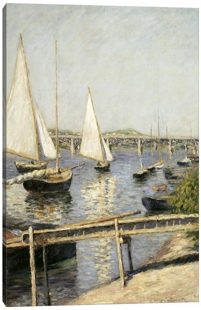 Sailing Boats at Argenteuil Canvas Art Print