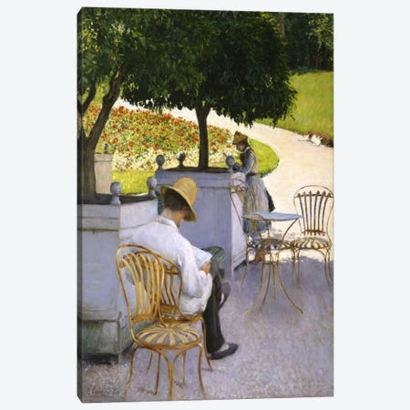 The Orange Trees Canvas Print #15020} by Gustave Caillebotte Canvas Artwork