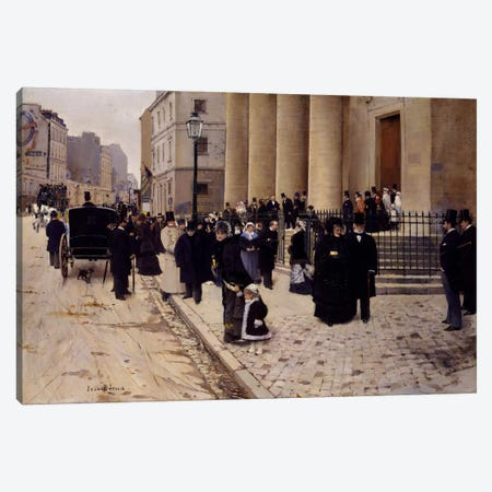 The Church of Saint-Philippe-du-Roule, Paris Canvas Print #15023} by Jean Beraud Canvas Wall Art