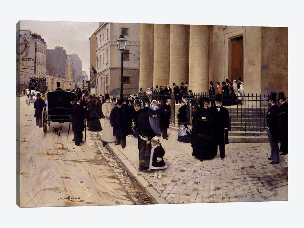 The Church of Saint-Philippe-du-Roule, Paris 1-piece Canvas Art Print