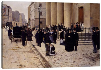 The Church of Saint-Philippe-du-Roule, Paris Canvas Art Print