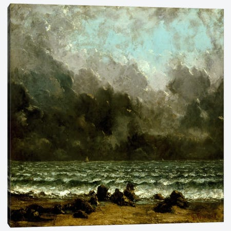 The Sea Canvas Print #15045} by Gustave Courbet Canvas Print