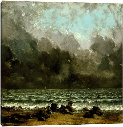 The Sea Canvas Art Print