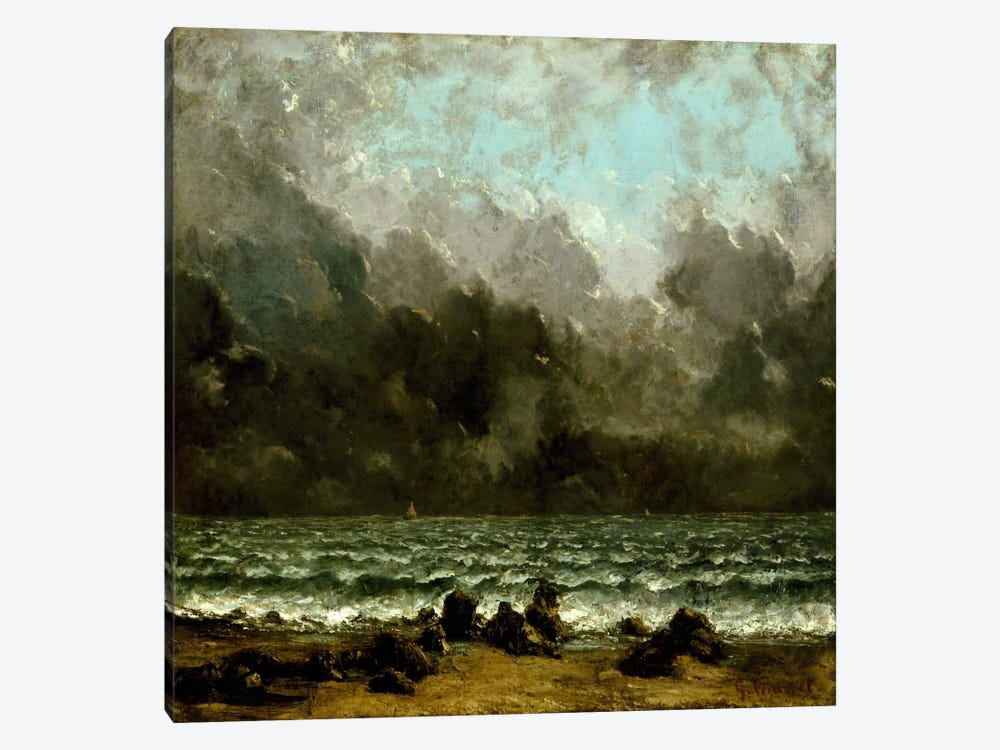 The Sea by Gustave Courbet 1-piece Canvas Art Print