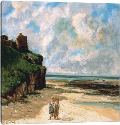 The Beach at Saint Aubin Sur Mer Canvas Art Print