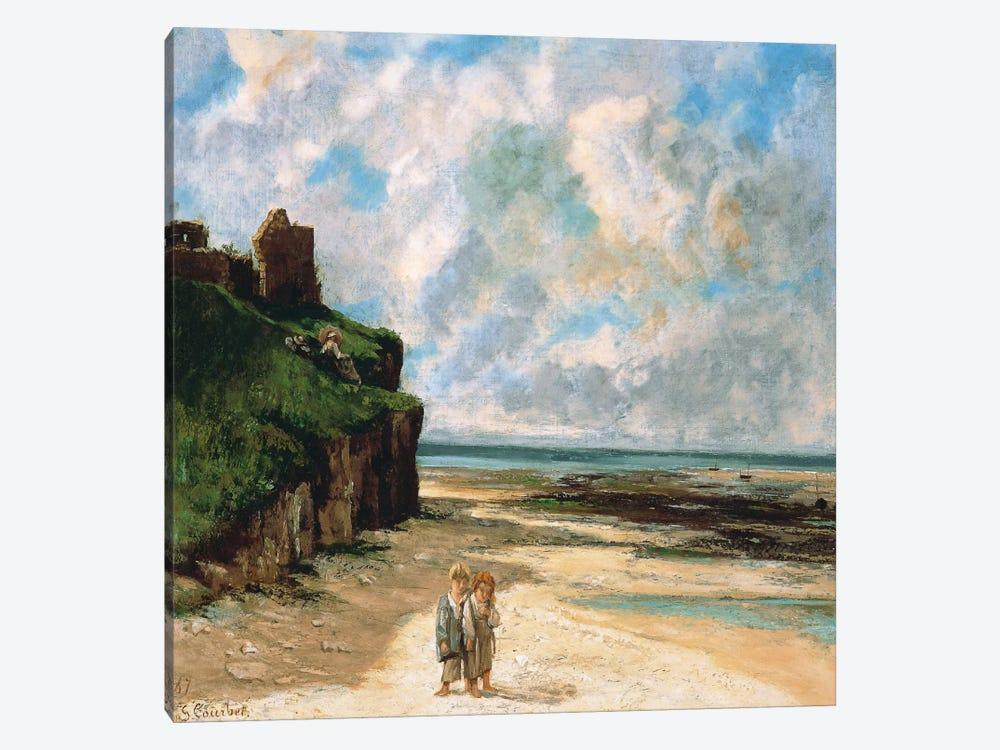 The Beach at Saint Aubin Sur Mer by Gustave Courbet 1-piece Art Print