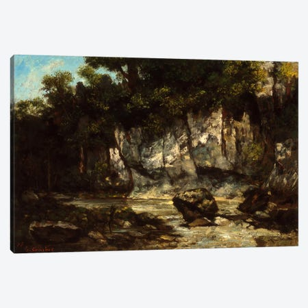 Landscape with Stag Canvas Print #15051} by Gustave Courbet Canvas Art Print