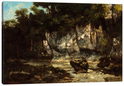 Landscape with Stag Canvas Print #15051