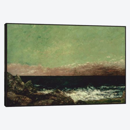 The Mediterranean Canvas Print #15052} by Gustave Courbet Art Print