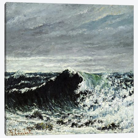 The Wave #2 Canvas Print #15053} by Gustave Courbet Canvas Art Print