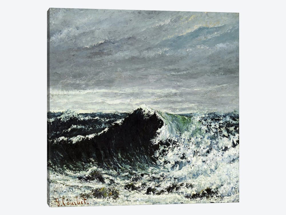 The Wave #2 by Gustave Courbet 1-piece Canvas Art