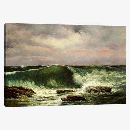 Waves Canvas Print #15055} by Gustave Courbet Canvas Wall Art