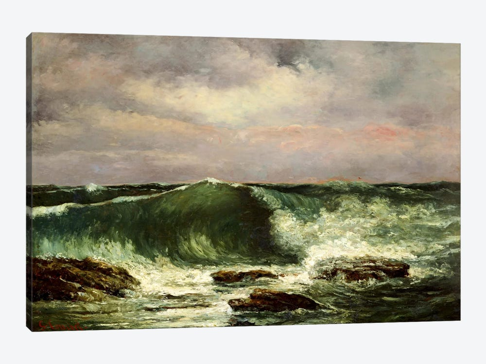 Waves by Gustave Courbet 1-piece Canvas Wall Art