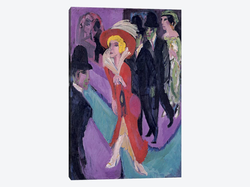 Street Hooker in Red by Ernst Ludwig Kirchner 1-piece Canvas Wall Art