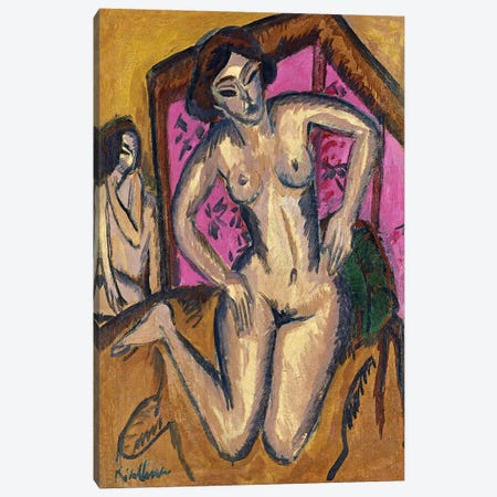 Red Screen Canvas Print #15058} by Ernst Ludwig Kirchner Canvas Print