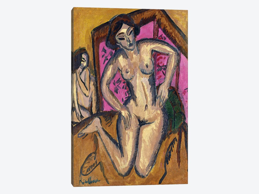 Red Screen by Ernst Ludwig Kirchner 1-piece Canvas Art Print
