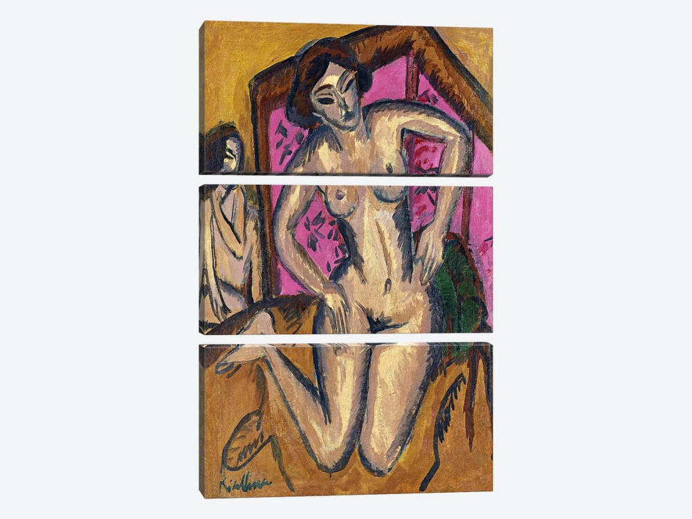 Red Screen by Ernst Ludwig Kirchner 3-piece Canvas Print