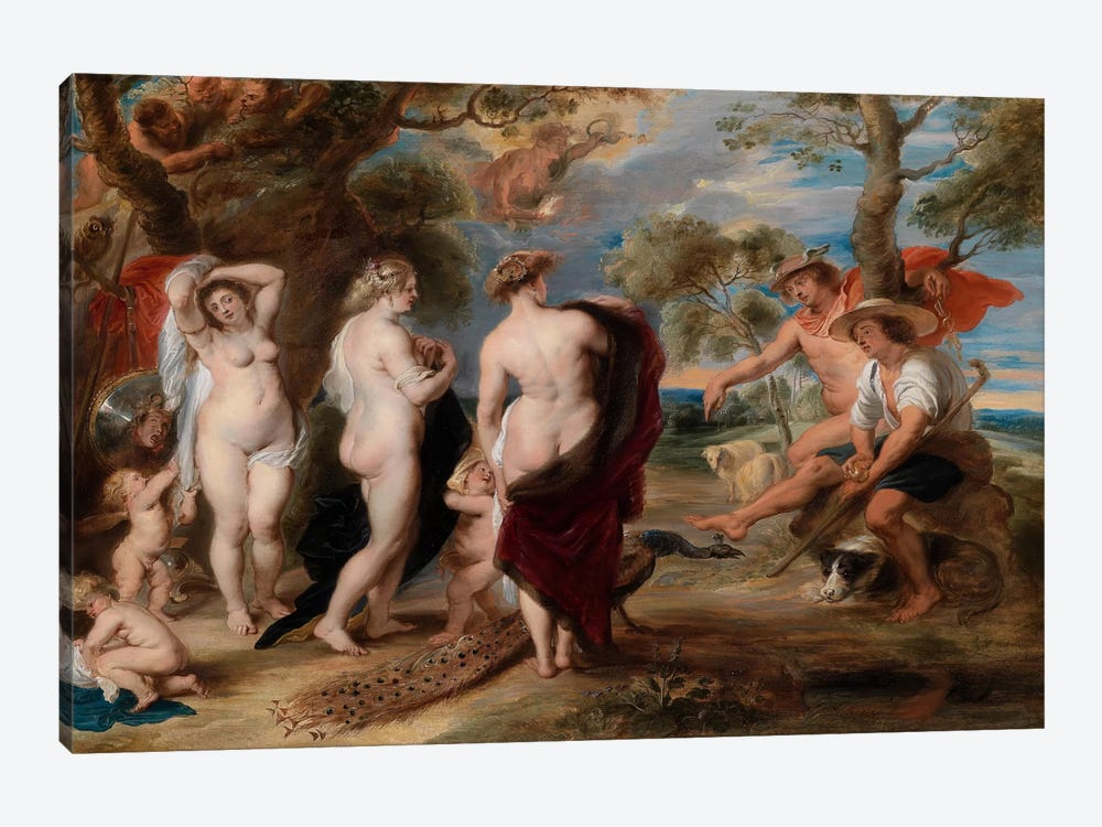 The Judgment of Paris by Peter Paul Rubens 1-piece Canvas Art Print