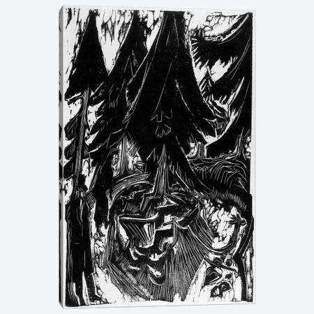 Walk Sanatorium (1916) Canvas Print #15062} by Ernst Ludwig Kirchner Canvas Artwork