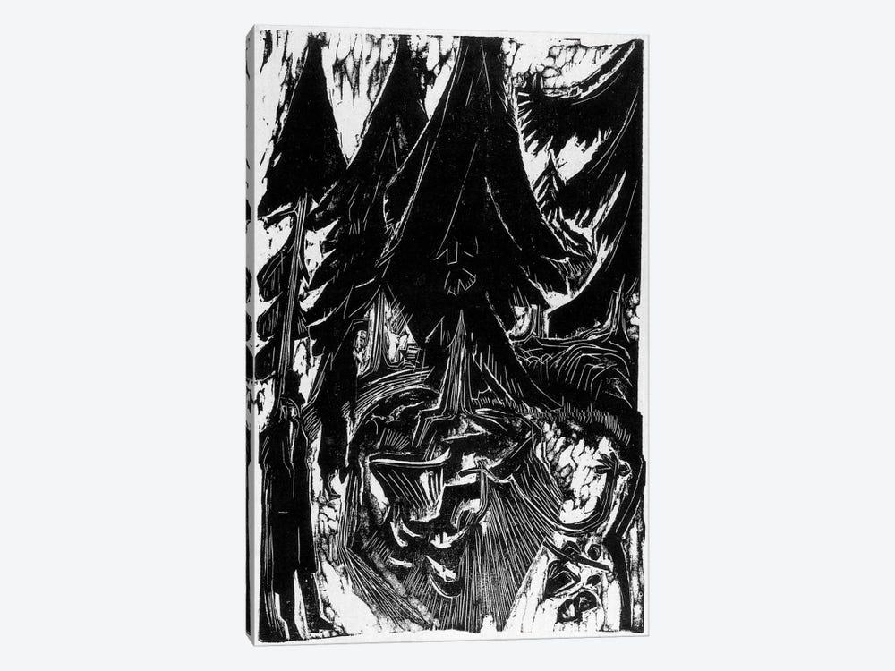 Walk Sanatorium (1916) by Ernst Ludwig Kirchner 1-piece Canvas Art