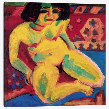 iCanvasART 3-Piece Seated Nude Canvas Print by Amedeo Modigliani 0.75 by 40 by 60-Inch