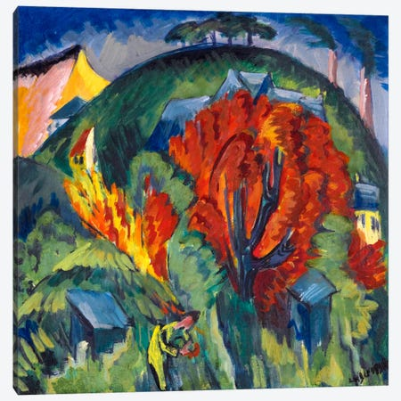 Galgenberg in Jena Canvas Print #15067} by Ernst Ludwig Kirchner Canvas Print
