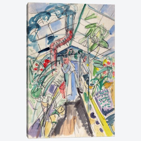 In Greenhouse (Im Treibhaus) Canvas Print #15068} by Ernst Ludwig Kirchner Canvas Art