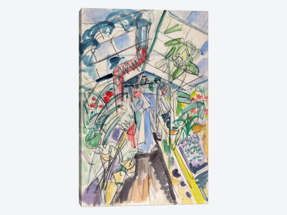 In Greenhouse (Im Treibhaus) by Ernst Ludwig Kirchner 1-piece Canvas Art
