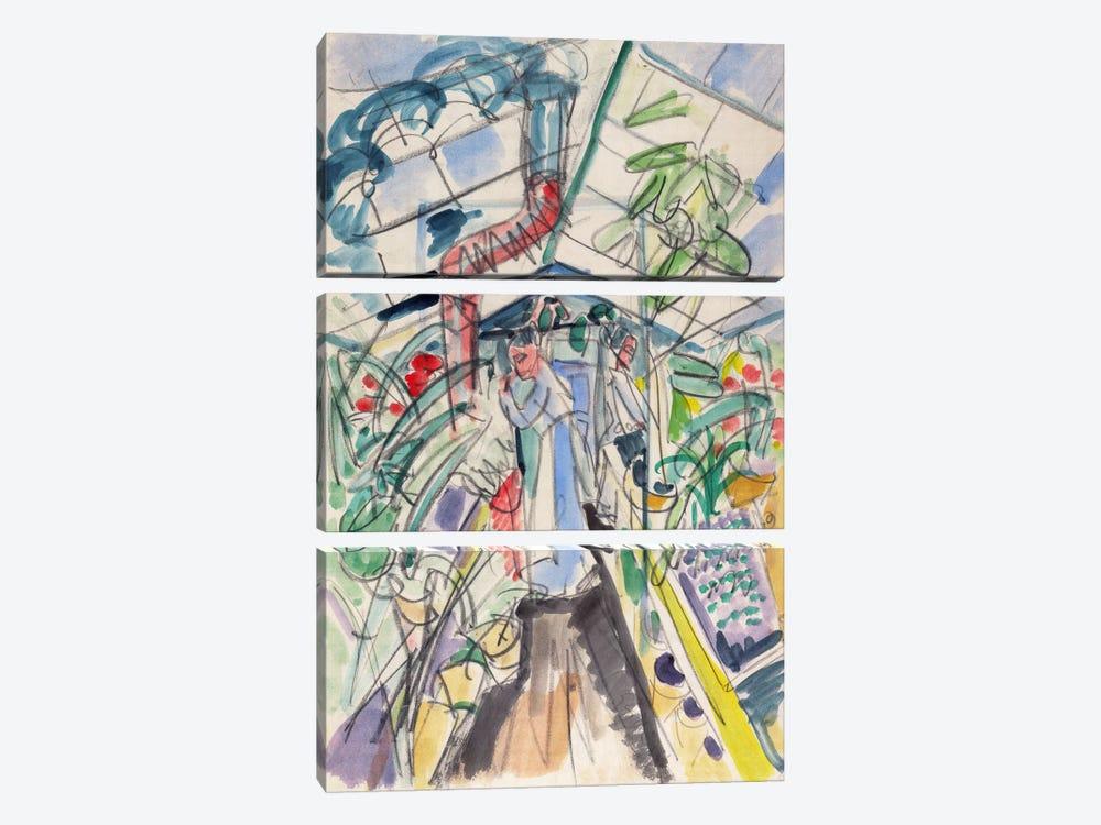 In Greenhouse (Im Treibhaus) by Ernst Ludwig Kirchner 3-piece Canvas Artwork