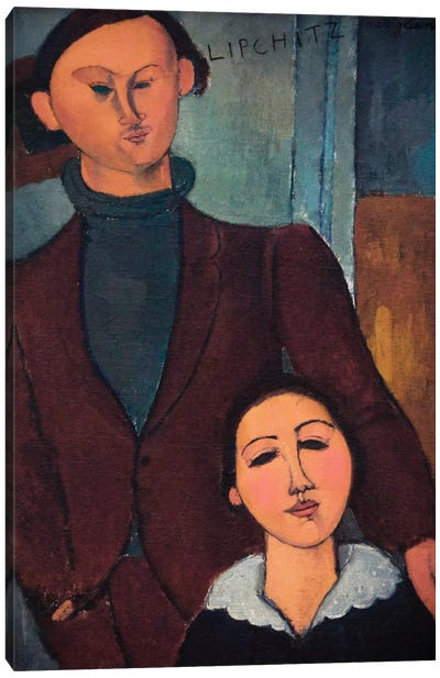 Portrait of Jaques and Bethe Lipchitz Canvas Art Print