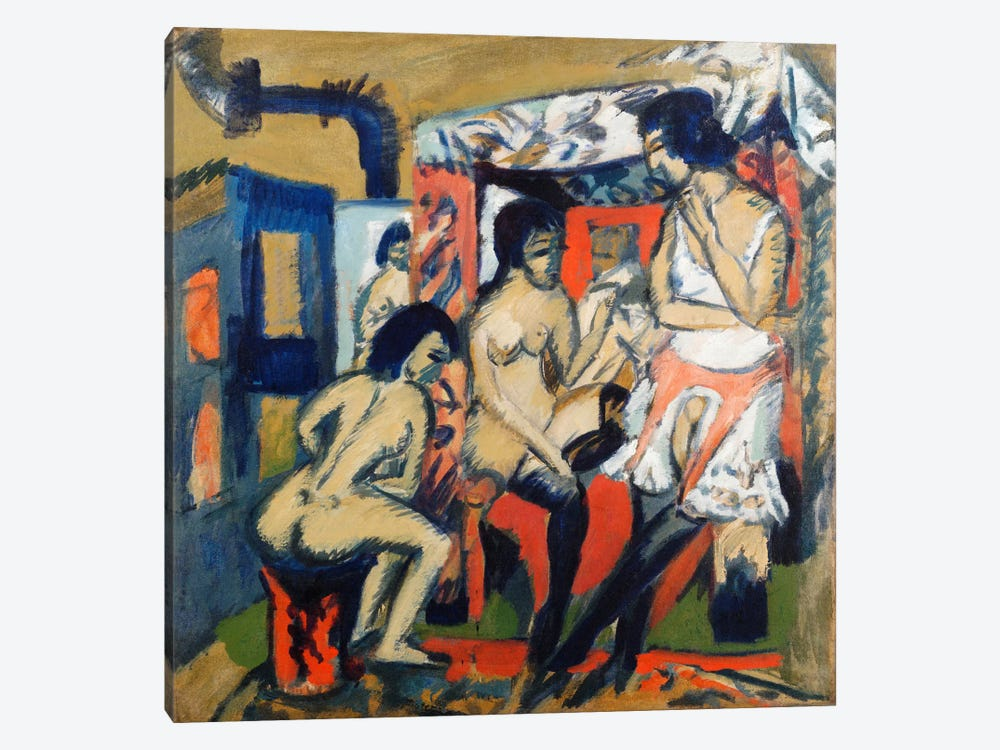 Nudes in a Studio by Ernst Ludwig Kirchner 1-piece Art Print
