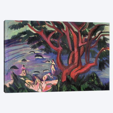Red Tree on the Brach Canvas Print #15073} by Ernst Ludwig Kirchner Canvas Print