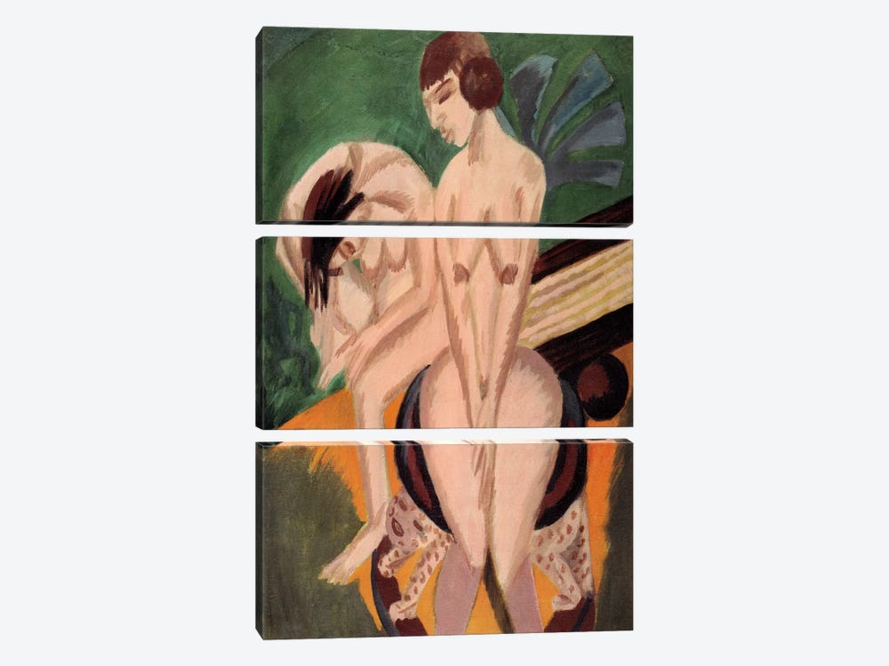Two Acts in the Space by Ernst Ludwig Kirchner 3-piece Art Print